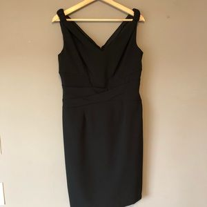 Adrianna Papell Black Cocktail Party Dress Size 14
